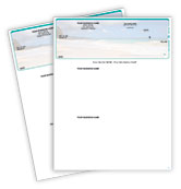 Beach Scene Top QuickBooks Checks