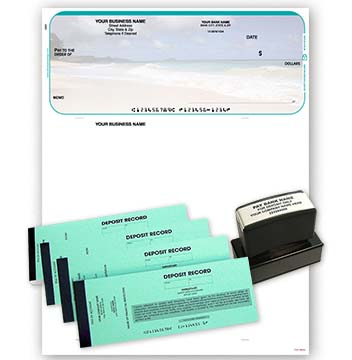 Beach Scene QuickBooks and Quicken Kit