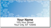 Blue Leaf Border Address Labels
