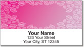 Pink Leaf Border Address Labels