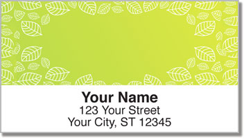 Yellow Leaf Border Address Labels