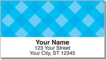 Blue Plaid Address Labels