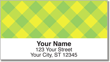 Yellow Plaid Address Labels