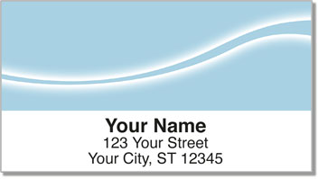 Blue Swoosh Address Labels