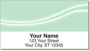 Green Swoosh Address Labels