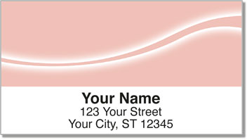 Pink Swoosh Address Labels