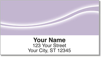 Purple Swoosh Address Labels