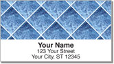 Blue Marble Tile Address Labels