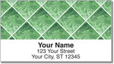 Green Marble Tile Address Labels