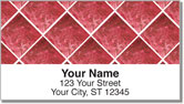 Red Marble Tile Address Labels