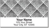 Silver Marble Tile Address Labels