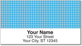 Blue Houndstooth Address Labels