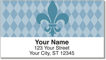 Blue Fleur de Lis Address Labels