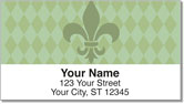 Green Fleur de Lis Address Labels