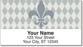 Silver Fleur de Lis Address Labels