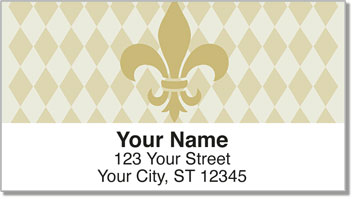 Gold Fleur de Lis Address Labels