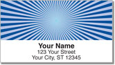 Blue Starburst Address Labels