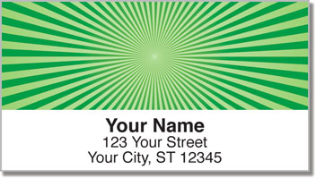 Green Starburst Address Labels