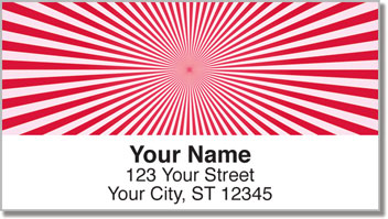 Red Starburst Address Labels