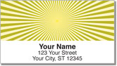 Yellow Starburst Address Labels