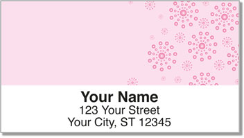Pink Burst Address Labels