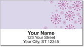 Purple Burst Address Labels
