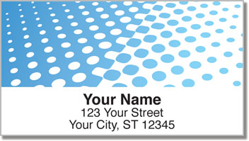 Blue Halftone Address Labels