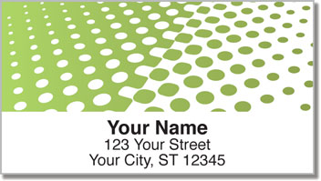 Green Halftone Address Labels