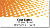 Orange Halftone Address Labels