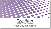 Purple Halftone Address Labels