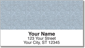 Blue Topographic Address Labels