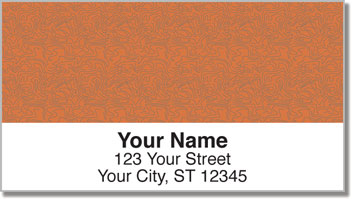 Rust Topographic Address Labels