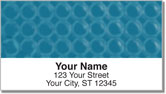 Blue Bubble Pattern Address Labels