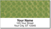 Green Bubble Pattern Address Labels
