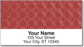 Red Bubble Pattern Address Labels