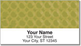 Gold Bubble Pattern Address Labels