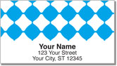Aqua Blue Bead Address Labels