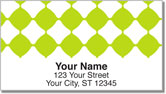 Lime Green Bead Address Labels