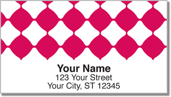 Magenta Bead Address Labels