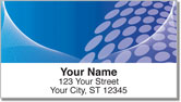 Blue Contempo Address Labels
