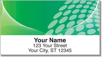 Green Contempo Address Labels