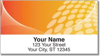 Orange Contempo Address Labels