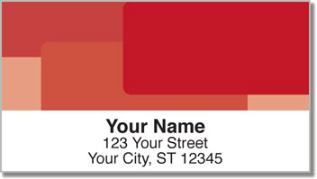 Red Rectangle Address Labels