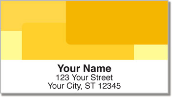 Yellow Rectangle Address Labels