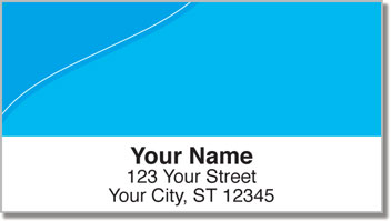 Blue Curve Address Labels