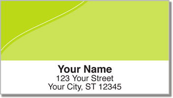 Green Curve Address Labels