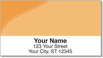 Orange Curve Address Labels