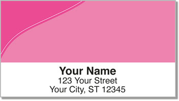 Pink Curve Address Labels