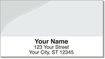 Silver Curve Address Labels