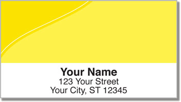 Yellow Curve Address Labels
